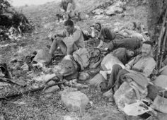 New Zealander's await evacuation from Sphakion, Crete around May (Alexander Turnbull Library), pin by Poop stain Paratrooper, Luftwaffe, Battle Of Crete, Operation Barbarossa, Today In History, White Mountains, German Army, Roosevelt, Crete