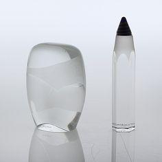 KJELL ENGMAN, 2 st glas, objekt.