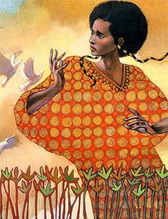 Illustration from the book Aida by Leontyne Price
