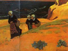 """""""Bretonnes"""",  Paul Sérusier, 1892"""