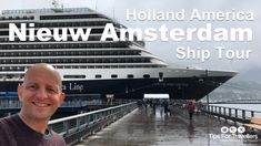 Holland America Nieuw Amsterdam Ship Tour (post 2017 refit)(video) - Tips For Travellers Holland America Cruises, Holland America Line, American Cruises, Med Cruises, Cruise Ship Reviews, How To Book A Cruise, New Amsterdam, Tour Tickets, Alaskan Cruise