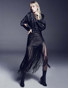 Karolina Kurkova Dresses Darkly In Marcin Tyszka Images For Vogue Portugal October2015
