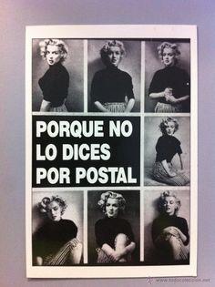 Postal de publicidad Marilyn Monroe