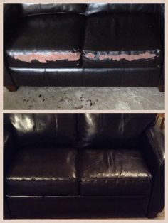 Quick Flaky Leather Couch Fix Get A Chip Of The Ling Go To Lowes And Have Computer Match It Sample Jar Paint Spots