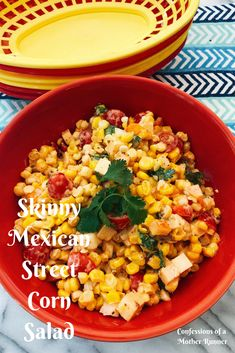 Salad days of summer. Use up your fresh corn with this healthy spin on a classic skinny Mexican street corn salad