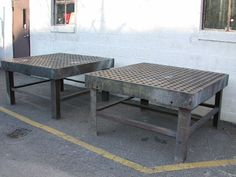 Acorn welding table  6 1/2 inches thick cast iron. Definitely need one of these. The best welding table I ever used.