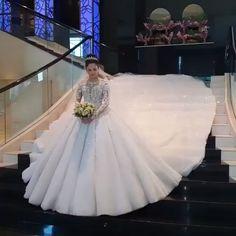 Luxury Wedding Dress With Sleeves Princess Ball Gowns, Princess Wedding Dresses, White Wedding Dresses, Cheap Wedding Dress, Bridal Dresses, Wedding Gowns, Bridesmaid Dresses, Wedding Shot, Wedding Music