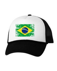 c4e593e1472 Brazil Flag Trucker Hat Brazil Hats for Men and Women Brazilian Football Cap  Brazil Soccer Gifts Bra