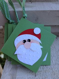 Enclosure Cards or Gift Tag Christmas Santa by SonomaCraftsman, $6.00
