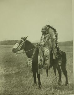 """Edward S. Curtis image of """"Chief Hector-Assiniboine"""", c. 1926."""