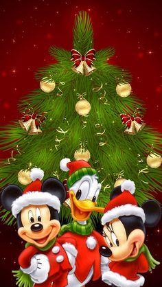 Mickey,Minnie,Donald Disney Christmas