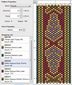 Have fun :) Please click images to enlarge Basic pattern Colour version 1 Colour version 2 Colour version 3 Colour v. Peyote Stitch Patterns, Beading Patterns Free, Weaving Patterns, Bead Patterns, Peyote Beading, Beadwork, Bead Loom Bracelets, Beading Techniques, Native American Beading