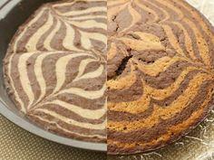 Easy-to-make Light Zebra Cake
