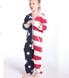 子供のためのアメリカの国旗カバーオールジャンプスーツ