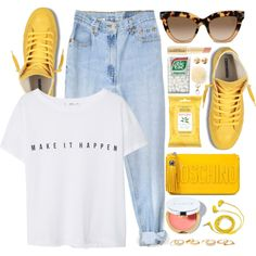 Untitled #3530 by monmondefou on Polyvore featuring MANGO, Levi's, Moschino, Charlotte Russe, Eddie Borgo, Valentino, FOSSIL, La Prairie, Napoleon Perdis and Burt's Bees