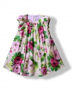 cute flower summer dress for little girls Baby Girl Frocks, Frocks For Girls, Kids Frocks, Kids Outfits Girls, Little Girl Dresses, Toddler Outfits, Girl Outfits, Girls Dresses, Baby Frocks Designs