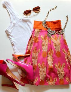 DIY Box Pleated Zebra Skirt by @cheapbutchic