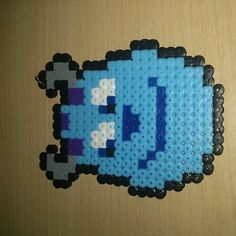 Sulley Monsters Inc. hama beads by hama_beards