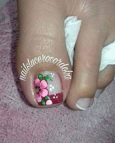 Cute Pedicure Designs, Nail Art Designs, Toe Nail Art, Toe Nails, Cute Pedicures, Foot Massage, Manicure, Nail Polish, Red Nail