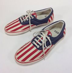 Vintage Men's American Flag 4th of July Van Doren by Objekt314, $54.00