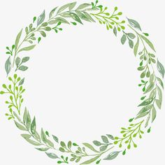 green leaf garland, Green, Leaf, Wreath PNG Image and Clipart Watercolor Projects, Wreath Watercolor, Watercolor Cards, Flower Frame, Flower Art, Wreath Drawing, Plant Vector, Instagram Frame, Floral Logo