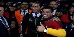 Adanalı Ronaldo gerçek Ronaldo ile buluştu (Video)