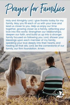 Prayer for Families Do you regularly pray for your family? This prayer for family relationships will help you guide your loved ones to a stronger family bond. Grab this prayer prompt for families to use in your quiet time today! Prayer For Peace, Prayer For You, God Prayer, Power Of Prayer, Prayer Quotes, Prayer Ideas, Father Quotes, Prayer Room, Bible Quotes