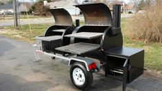 "TS-50/50 smoker grill combo 30"" racks #bbq #topshot #smoker Barbecue Smoker, Bbq Grill, Grilling, Bar B Que Grills, Custom Smokers, Outdoor Smoker, Bbq Island, Smoke Grill, Cookers"