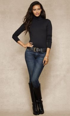 Long Sleeve Black Turtleneck-I consider it a classic! Goes w everything!