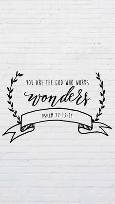 The internet and social media platforms are can be used to share inspiration, encouragement and faith. Post one of these beautiful Bible verse designs! The Words, Cool Words, Psalm 77, Bibel Journal, Bible Scriptures, Bible Psalms, Calligraphy Quotes Scriptures, Bible Verse Art, Good Bible Verses