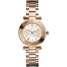 Guess X35011L1S 34mm Bronze Steel Bracelet & Case Mineral Women's Watch | Your #1 Source for Watches and Accessories