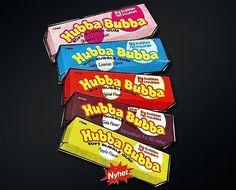 Storhetstiden til Hubba Bubba var på 80-tallet. Husker du da vi kunne velge mellom disse?