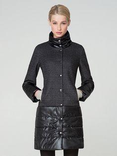 Пальто женское цвет графит, пальтовая ткань, артикул 1014990i60095
