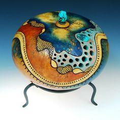 """Copper Organic"" - Gourd by Claudia Pflueger."