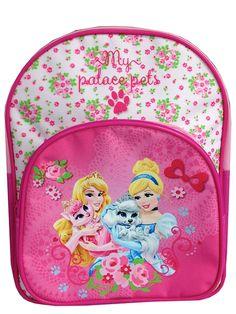 Palatsin pallerot -kerhoreppuun on kiva sujauttaa eläinrakkaan prinsessan tärkeät tavarat. Säädettävät olkahihnat ja edessä vetoketjullinen tasku. Materiaali: polyesteri. Mitat 30 x 24 x 8 cm.