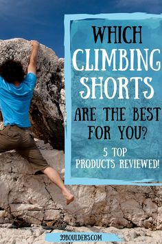 Choosing the right climbing outfit can be a bit tricky. But don't worry, we've got you covered - find out which are the best rock climbing shorts on the market (including the best women's climbing shorts) and choose the perfect ones for you! I Climbing gear I Rock climbing for women I Rock climbing tips I Bouldering tips I Rock climbing training I