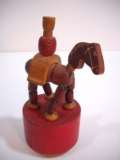 vintage push puppets