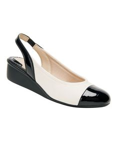 Look what I found on #zulily! Ivory Emma Patent Leather Wedge #zulilyfinds