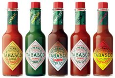 Tabasco Brand Hot Sauce! I visited Avery Island, Louisiana....the home of Tabasco several years ago...a lot of fun :)