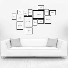 Frame arrangement Frame arrangement The post Frame arrangement appeared first on Fotowand ideen. Bedroom Frames, Gallery Wall Bedroom, Gallery Wall Layout, Gallery Wall Frames, Frames On Wall, Gallery Walls, Wall Collage, Art Gallery, Picture Frame Arrangements