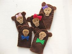 5 Little Monkeys Finger Puppets