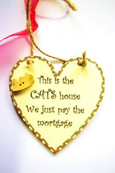 Handmade Plaque Fun Gift For CAT Lovers... This Is The CATS House...   eBay