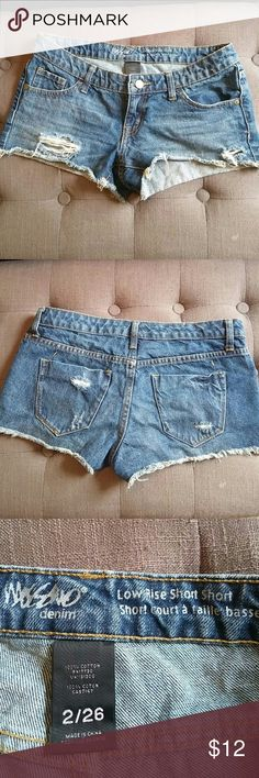 Jean Shorts Cute distressed cut off Jean shorts Mossimo Supply Co Shorts Jean Shorts