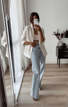 Cute Casual Outfits, Chic Outfits, Casual Chic, Fashion Outfits, Womens Fashion, Spring Summer Fashion, Spring Outfits, Autumn Fashion, Mode Ootd