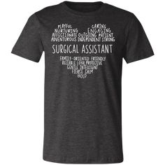 Surgical assistant heart T-Shirt Surgical Tech, 30 And Single, How To Be Outgoing, Digital Prints, Size Chart, Heart, Mens Tops, T Shirt, Fashion
