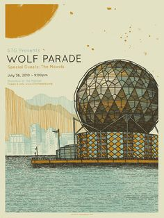 Illustrative poster for Wolf Parade Poster