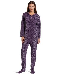 Casual Moments Women's One Piece Footed Pajama Casual Moments. $36.00. Machine Wash. 100% Polyester. Micro fiber for comfort and warmth. Extra room in hips and elastic at ankles. Made in China