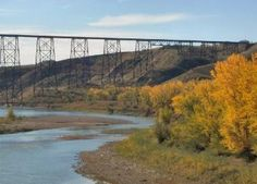 High Level Bridge and Old Man River, Lethbridge, Alberta