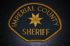 Imperial County Sheriff Patch, California