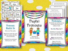 Pronoun Freebie great for centers
